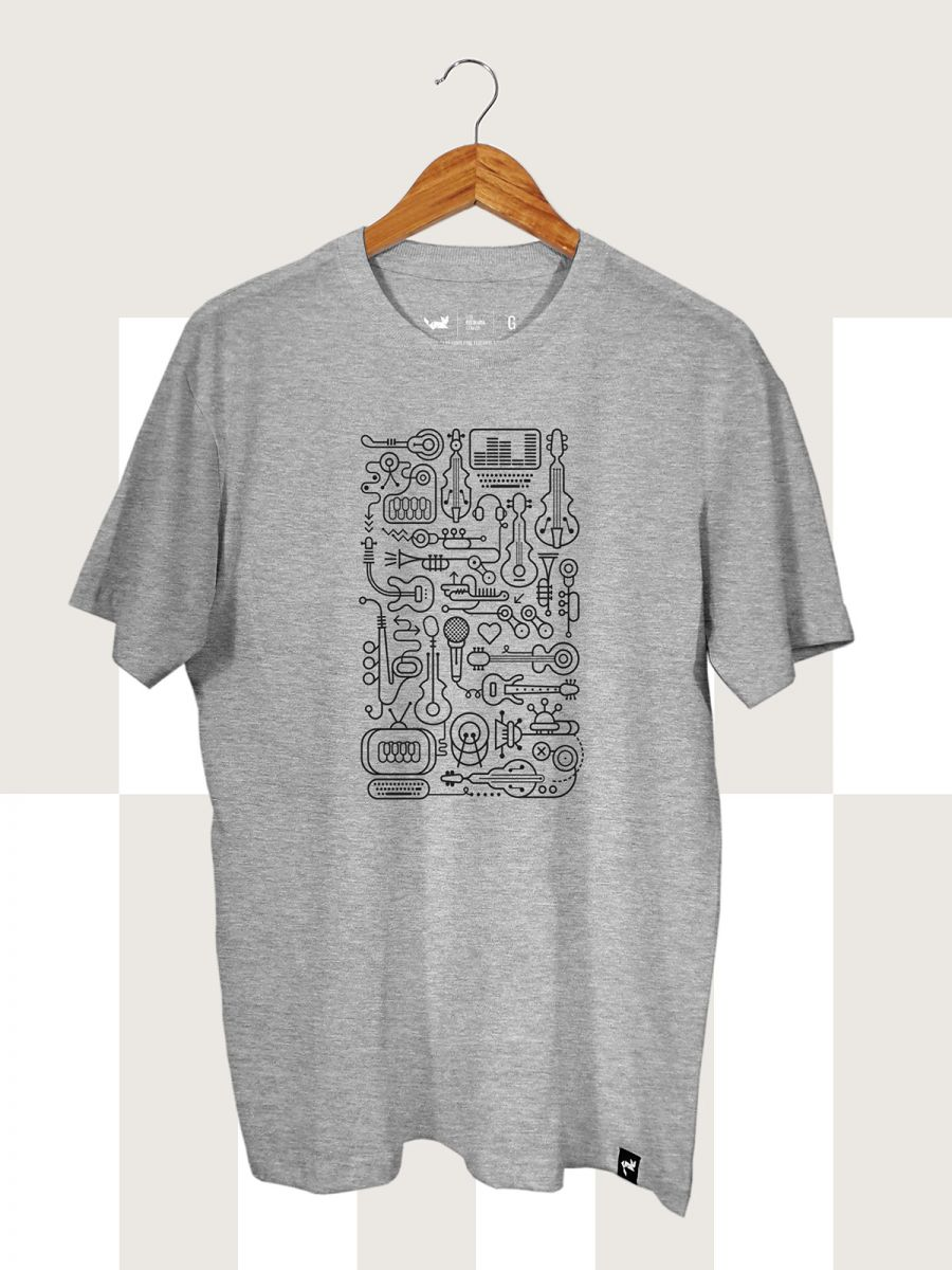 Camiseta Cinza Mescla Bytes and Beats