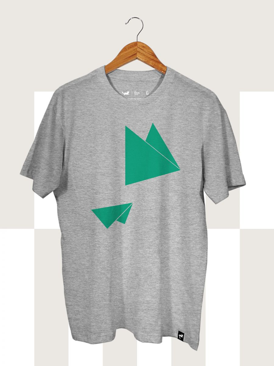 Camiseta Cinza Mescla Flying Triangles