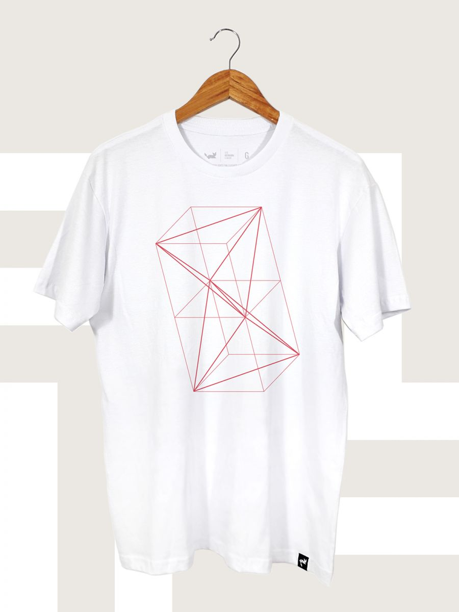 Camiseta Branca Solid Geometry